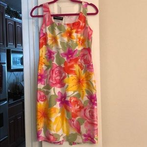 Donna Morgan petites 100% silk dress  Like New